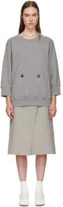 MM6 MAISON MARGIELA Grey and Beige Sweater Dress