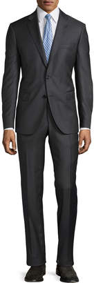 Neiman Marcus Slim-Fit Solid Serge Two-Piece Suit
