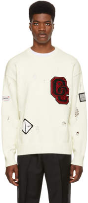 Opening Ceremony White Varsity Sweater