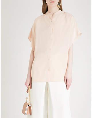 Diane von Furstenberg Asymmetric silk top