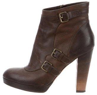 Derek Lam Leather Platform Ankle Boots $95 thestylecure.com