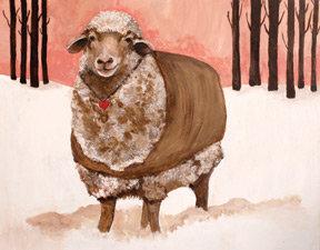 Lisa Congdon Sheep in Jacket Print