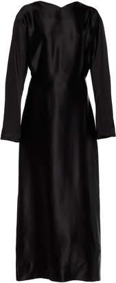 Deitas Demeter Knotted Satin Maxi Dress Size: 34