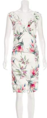 Nicole Miller Floral Knee-Length Dress w/ Tags