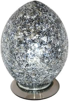 Mosaic Egg Lamp, Glass, Black, Medium