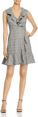 Kate Spade Mod Ruffled Plaid Mini Dress