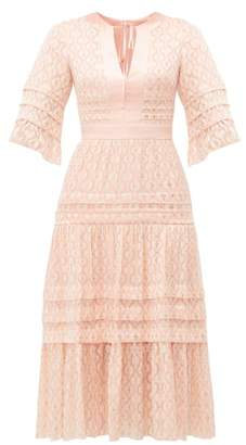 Temperley London Suki Metallic Fil Coupe Midi Dress - Womens - Light Pink