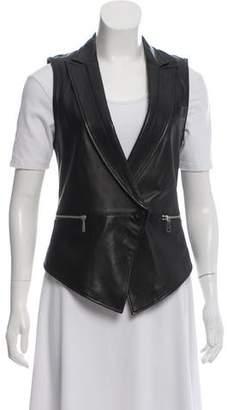 Rebecca Minkoff Notch-Lapel Leather Vest