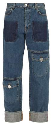 J.W.Anderson Asymmetric Pocket Straight Leg Jeans - Mens - Blue
