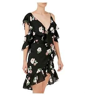 Nicholas Rose Asymmetric Wrap Dress