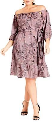 City Chic Luxe Paisley Dress