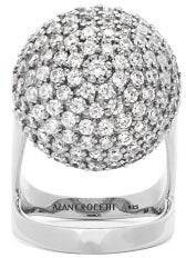 Alan Crocetti - Armadillo Crystal Encrusted Sterling Silver Ring - Womens - Silver