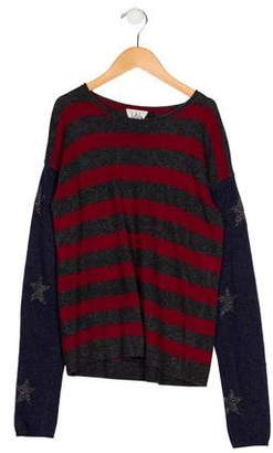 Ikks Girls' Knit Striped Sweater
