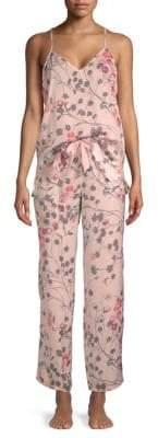 Natori Two-Piece Floral-Print Pajama Set