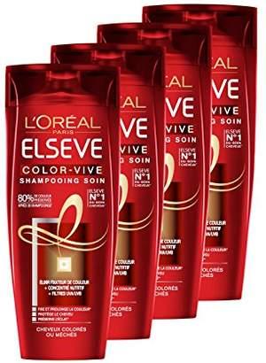 Elsève L 'Oréal Paris Color-Vive Shampoo 250 ml – Set of 4