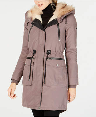 Lucky Brand Faux-Fur-Lined Multi-Pocket Anorak