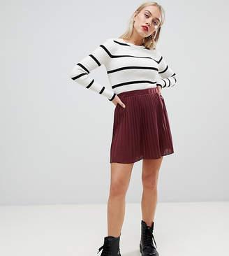 Asos DESIGN Petite pleated mini skirt in jersey