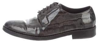 Jimmy Choo Patent Leather Printed Oxfords