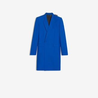 Balenciaga 80s Shoulder Coat in bright blue tailoring twill
