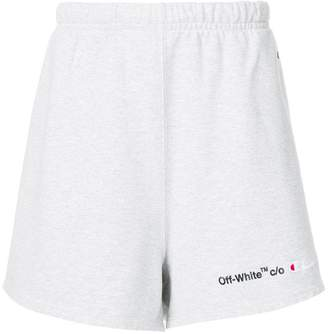 Off-White Off White x Champion logo track shorts