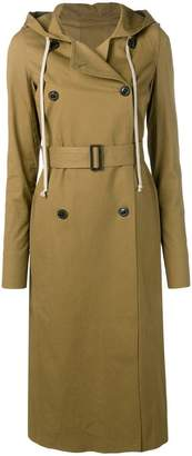 Rick Owens belted Mustard trench