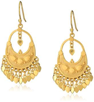 Satya Jewelry Classics -Plated Petal Chandelier Earrings