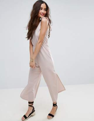 ASOS Minimal Jumpsuit in Jersey with Elasticated Waist $40 thestylecure.com