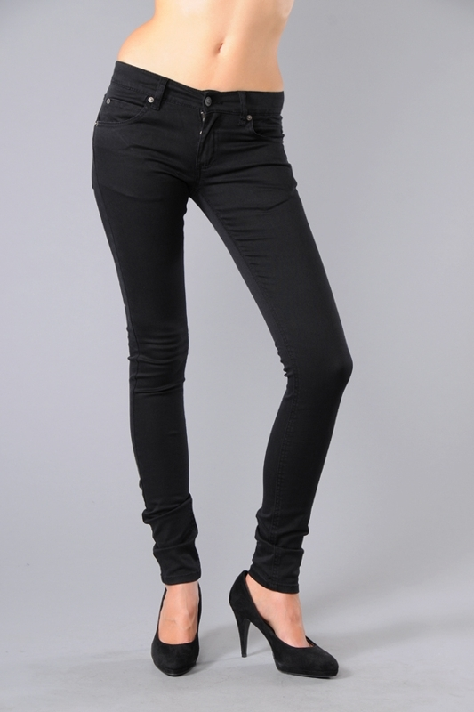 Cheap Monday Zip Low Skinny Jeans in Very Stretch Black