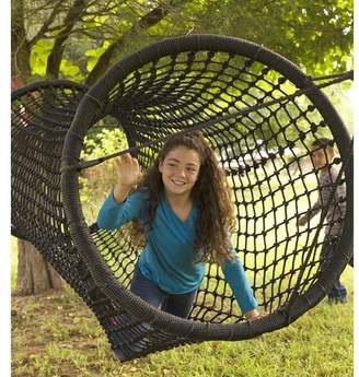 HearthSong Black Rope-Net Tunnel / Bridge for Kids Outdoor Play