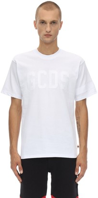 GCDS Logo Cotton Jersey T-shirt