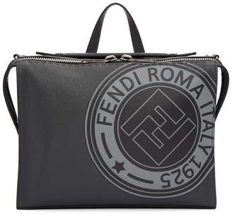 Fendi Black Roma Stamp Messenger Bag