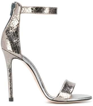 Marc Ellis metallic snake embossed sandals