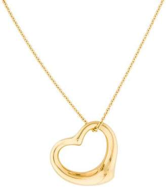 Tiffany & Co. 18K Large Open Heart Pendant Necklace $1,395 thestylecure.com