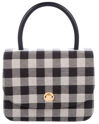 Mansur Gavriel Metropolitan Gingham Top Handle Bag w/ Tags