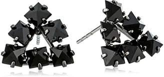 ABS by Allen Schwartz Black Magic Triangle Stud Earrings