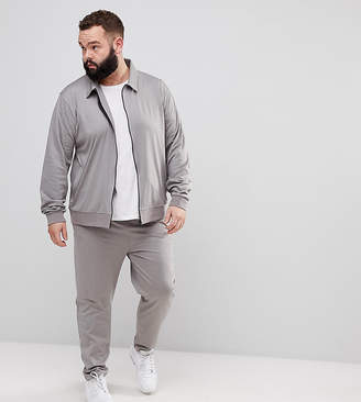 Asos DESIGN PLUS Retro Tracksuit Harrington Jacket/ Skinny Joggers