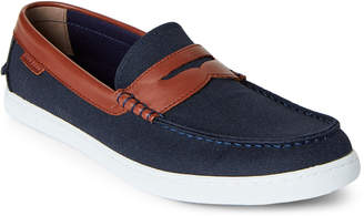 Cole Haan Blazer Blue & Chestnut Nantucket Canvas Loafers