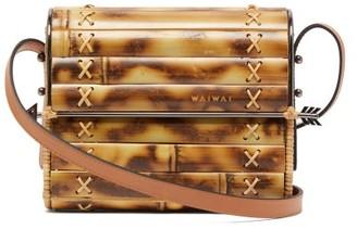 Wai Wai - Seringueira Bamboo And Leather Cross Body Bag - Womens - Brown
