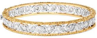 Buccellati Ramage 18-karat White And Yellow Gold Diamond Bangle - one size