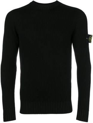 Stone Island ribbed crew neck sweater