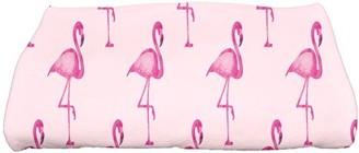 Simply Daisy, 28 x 58 inch, Flamingo Fanfare Multi Animal Print Bath Towel, Pink