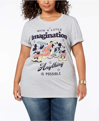 Mighty Fine Plus Size Mickey Mouse Imagination T-Shirt