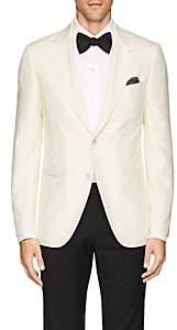 Caruso Men's Slub Silk Two-Button Sportcoat-Cream