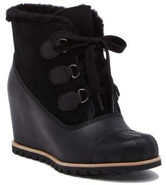 UGG Alasdair Genuine Shearling Wedge Bootie