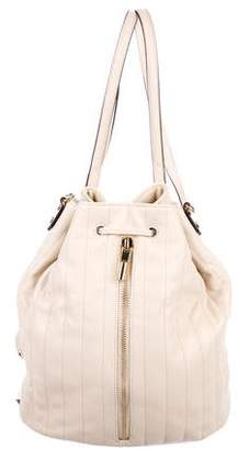Elizabeth and James Cynnie Grained Leather Bucket Bag w/ Tags