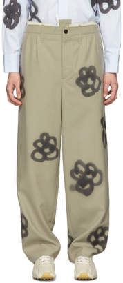 Camiel Fortgens Khaki Sprayed Suit Trousers