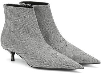 Balenciaga Knife checked ankle boots