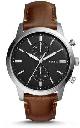 Fossil Townsman 44mm Chronograph Brown Watch