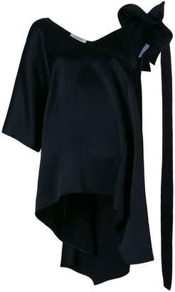 Valentino asymmetric sleeve blouse