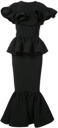 Christian Siriano ruffled peplum dress